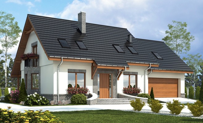 projekt Dom Dla Ciebie 2 w2 z garażem 2-st. A1