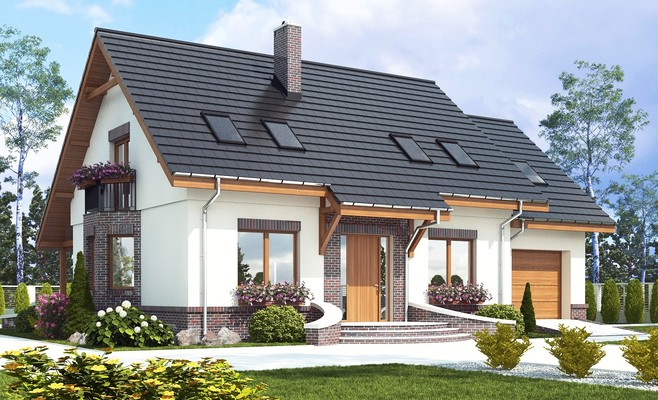projekt Dom Dla Ciebie 2 z garażem 1-st. A
